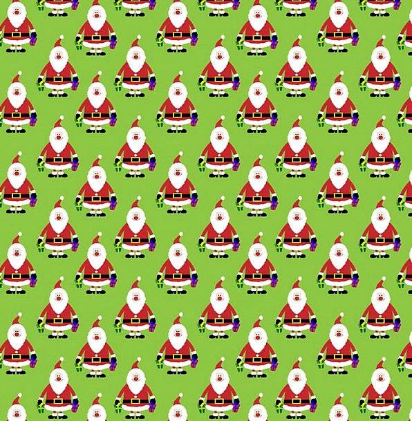 Christmas Textures Backgrounds Santa Claus Santa W