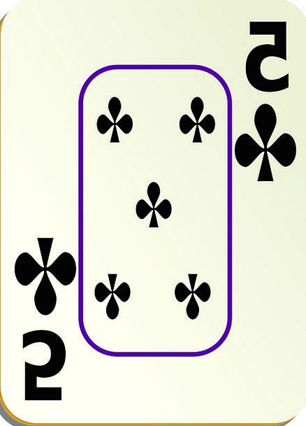 Clubs Bats 5 Five Poker Card Postcard Recreation G