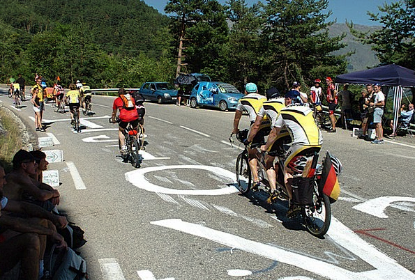 Tour De France Difficult Threesome Triangle Uphill