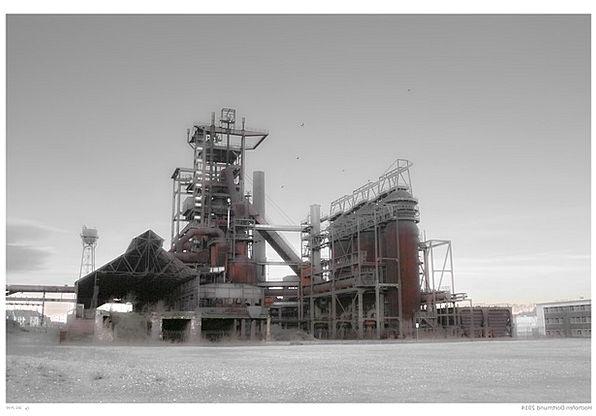 Blast Furnace Dortmund Steel Mill Landscape Park I