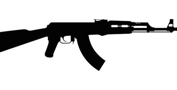 Kalashnikov Silhouette Outline Automatic Weaopon G