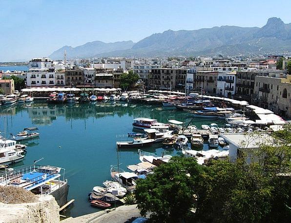 Kyrenia Buildings Urban Architecture Cyprus City S
