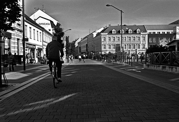 City Urban Buildings Public Architecture Cyclist P