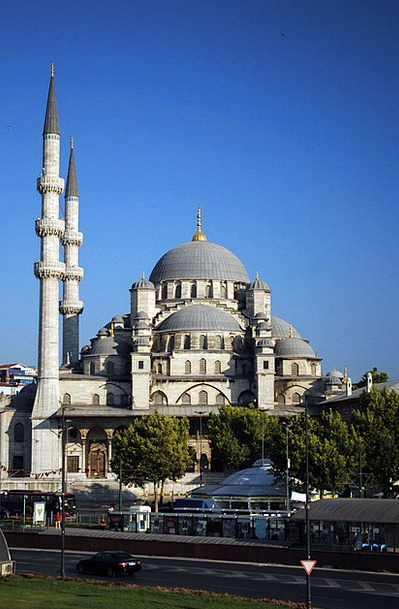 Mosque Turkey Istanbul Seaside Coastal Morning Aug
