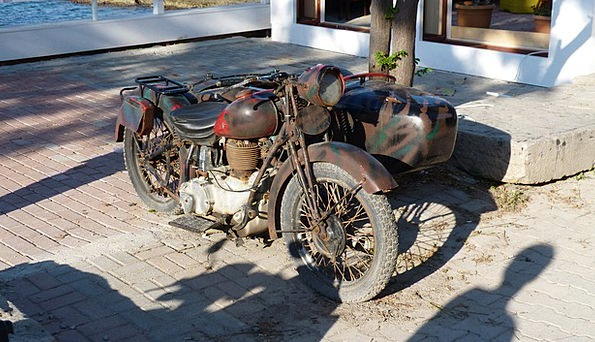 Moto Bike Ancient Stainless Old Verrosted Turkey