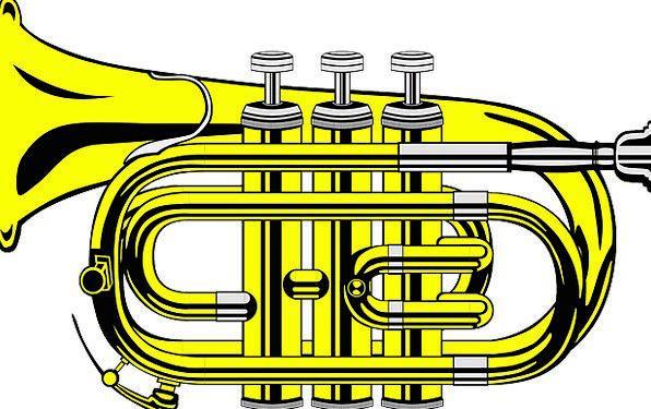 Trumpet Broadcast Melody Brass Nerve Music Golden
