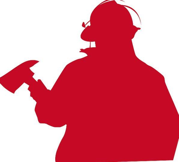 Fireman Silhouette Outline Firefighter Rescue Resc