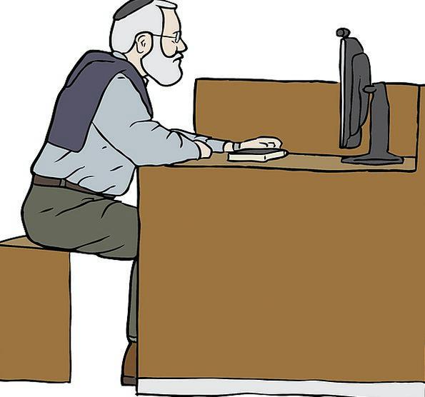 Working Employed Gentleman Sitting Sedentary Man P