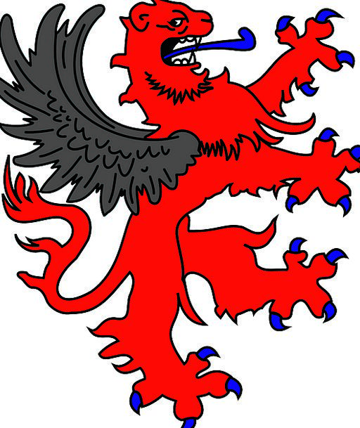 Lion Flying Griffin Winged Nobility Rampant Lush G
