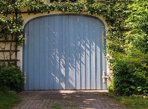 Garage Landscapes Nature Door Entrance Garage Door