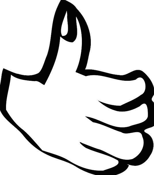 Thumbs Up Pointer Success Achievement Hand Agreeme