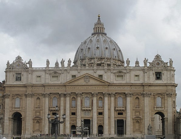 Basilica Church Columns Pillars San Pedro Italy