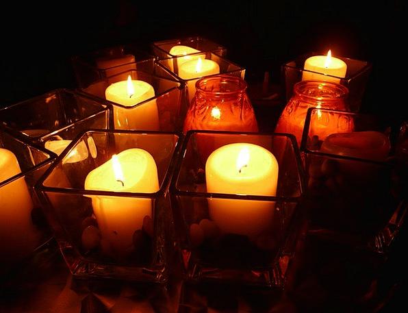 Candles Tapers Illuminations Windlight Lights Dark
