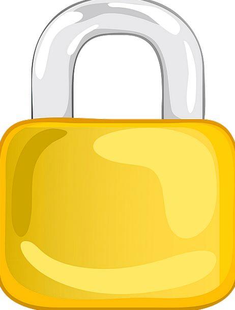 Padlock Lock Gray Metallic Silver Metal Security S