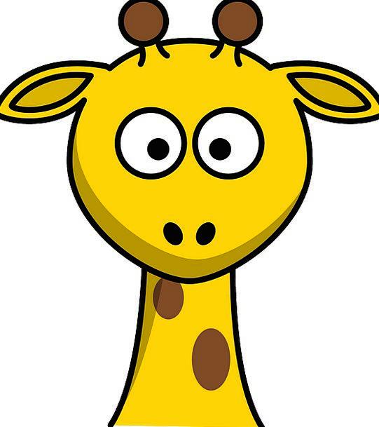 Giraffe Skull Young New Head Cartoon Animation Fre