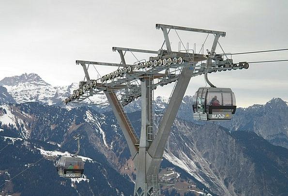 Gondola Ski Area Cable Car Skiing Montafon Golm Ca