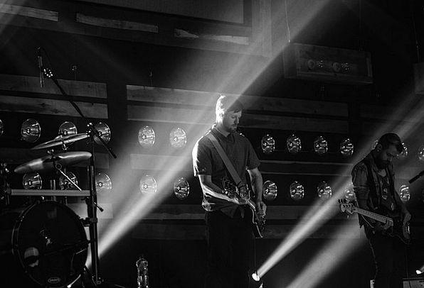 Guitarist Live Music Black And White Rock Pillar I