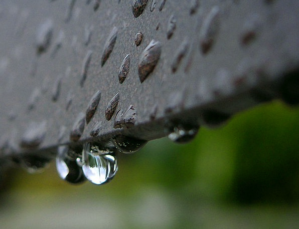 Drop Of Water Near Reflection Likeness Close Rain
