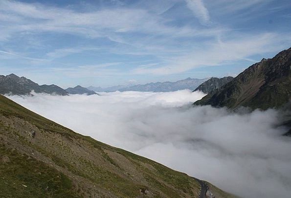 Sea Of Clouds Landscapes Blue Nature Mountain Crag