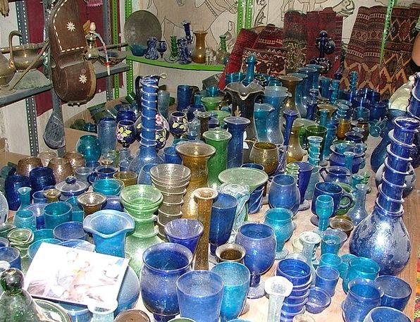Glass Cut-glass Azure Tender Loving Blue Art Paint