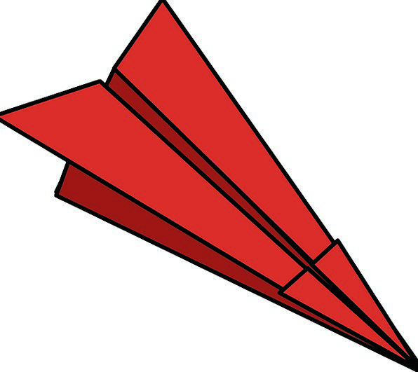 Paper Plane Doubled Paper Dart Folded Paper Airpla
