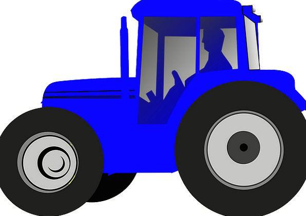 Tractor Agriculturalist Drive Energy Farmer Blue A