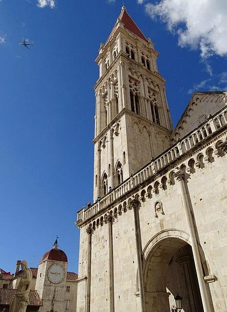 Steeple Tower Croatia Trogir Unesco Church Europe