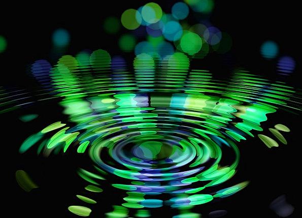 Abstract Nonconcrete Upsurge Circle Ring Wave Nirv