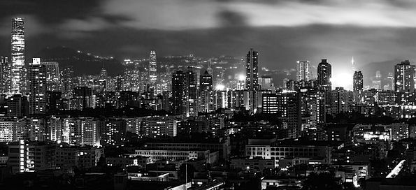Hong Kong Buildings Architecture Night Nightly Cit