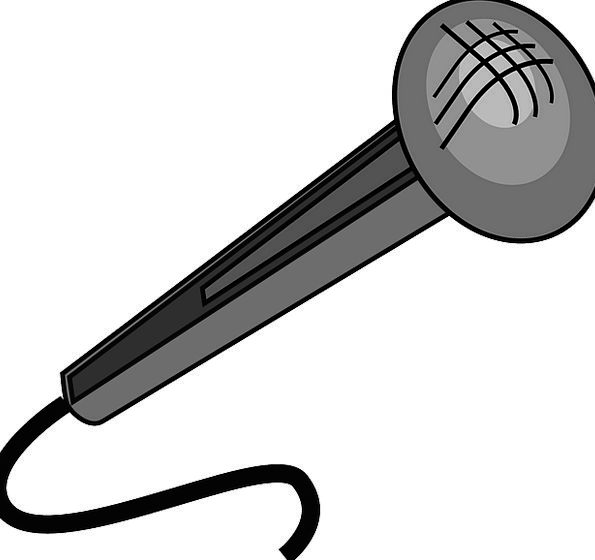 Microphone Communication Dark Computer Cartoon Ani