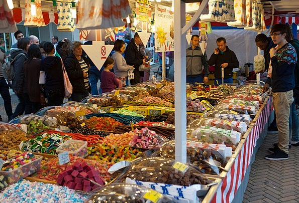 Sweet Stall Colourful Street Market Assorted Mixed