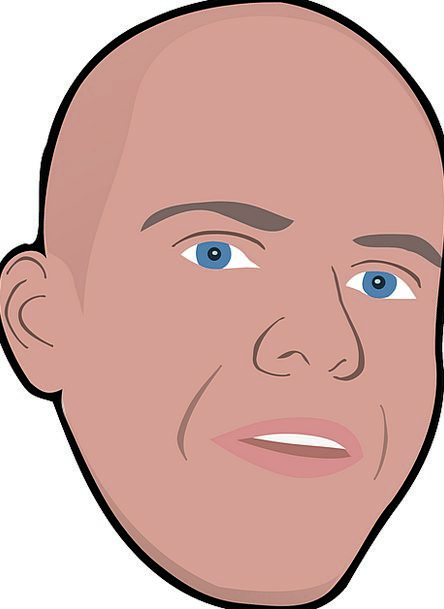 Face Expression Skull Bald Bare Head Dude Man Free