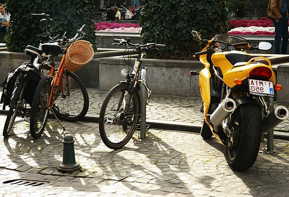 Bike Motorbike Traffic Transportation Bikes Motorb