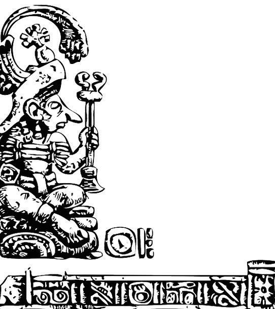 Mayan Figurine Relief Respite Statue Maya Mexican