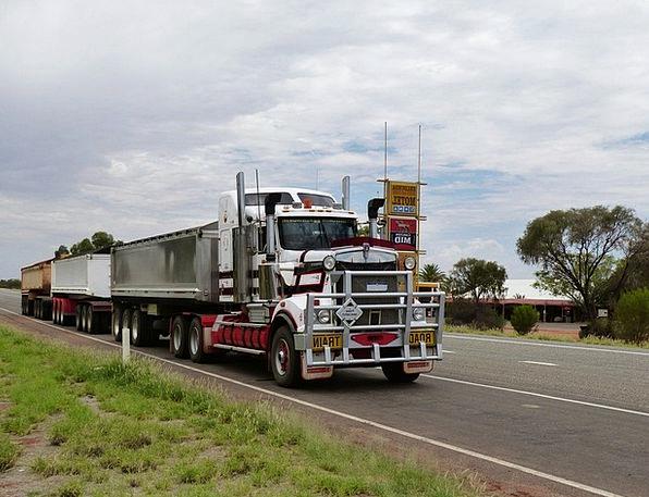 Semi Trailers Traffic Car Transportation Road Stre