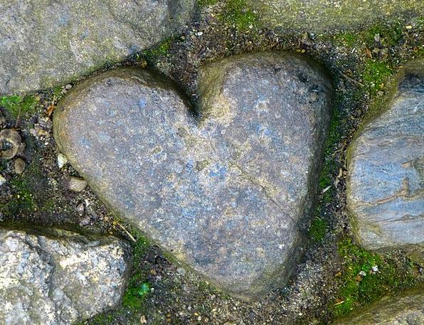 Heart Stone Pebble St Michael'S Mount Love Darling