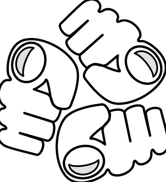 Fist Fistful Aggression Violence Logo Free Vector