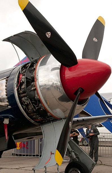 Fighter Aircraft Motorized Propeller Motor Engine
