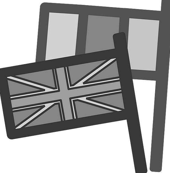 Flags Streamers Global Grey Old International Uk N