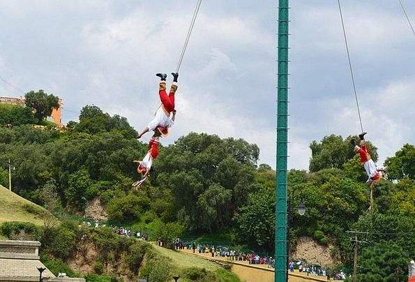 Flying Hovering Cholula Papantla Puebla Mexico
