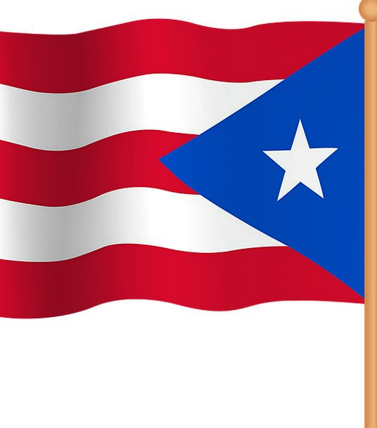 Puerto Rico Standard National Nationwide Flag Caribbean Nation