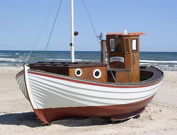 Fishing Boat Vacation Travel Beach Seashore Denmar