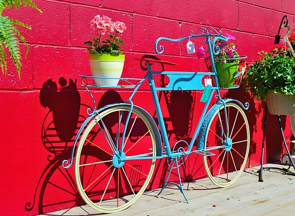 Plant Holder Bike Flowers Plants Bicycle Decoratio
