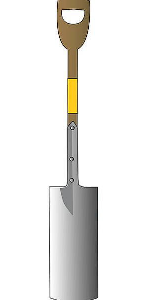 Shovel Spade Instrument Arched Curved Tool Gardeni