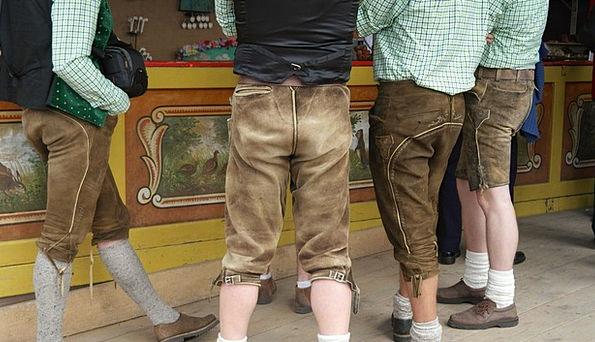 Leather Pants Menfolk Costume Men Tradition Custom
