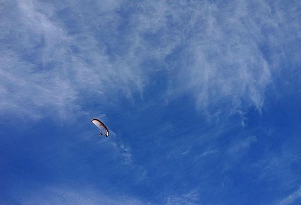 Sky Blue Parachute Free-fall Paraglider
