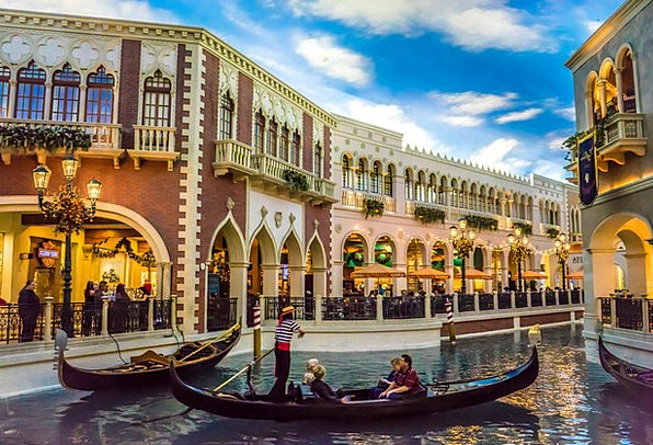 Venetian Buildings Architecture Gondola Las Vegas