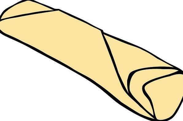 Burrito Drink Shawl Food Roll Reel Wrap Fillings M