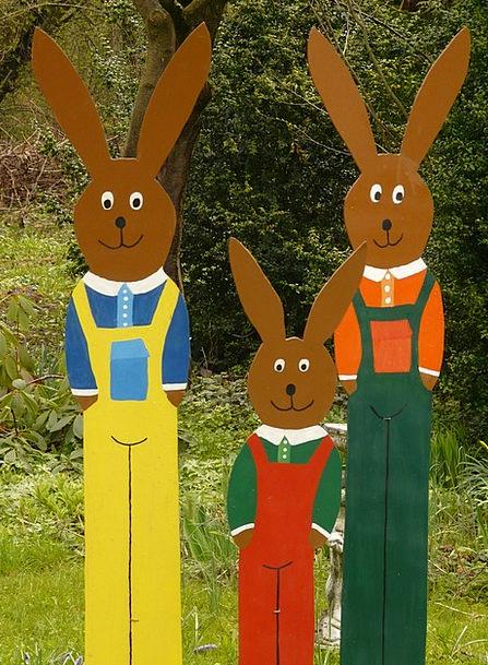 Easter Bunny Rabbit Bunny Easter Nice Festival Cen
