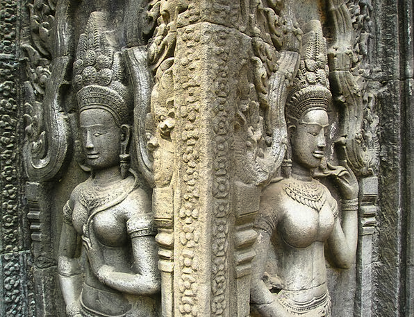 Angkor Cambodia Wat Temple Shrine So Figures Statu